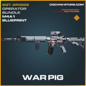 War Pig Legendary Skin Blueprint Sgt. Griggs Operator Bundle call of duty modern warfare warzone item