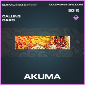 Akuma calling card in Call of Duty Black Ops Cold War and Warzone