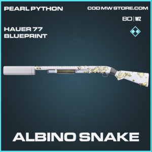 Albino Snake Hauer 77 skin rare blueprint Call of Duty Black Ops Cold War and Warzone