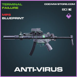 Anti-Virus MP5 Skin epic blueprint in Call of Duty Black Ops Cold War and Warzone