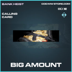 Big Amount calling card rare Call of Duty Black Ops Cold War & Warzone item