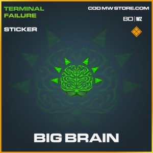 Big Brain Sticker in Call of Duty Black Ops Cold War and Warzone