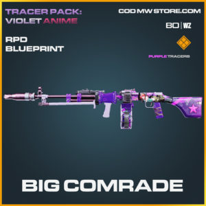 Big Comrade RPD blueprint tracer skin in Call of Duty Black Ops Cold War and Warzone