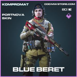 Blue Beret Portnova Skin Call of Duty Black Ops Cold War and Warzone