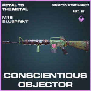 Conscientious Objector M16 skin epic blueprint in Call of Duty Black Ops Cold War and Warzone