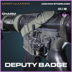 Deputy Badge charm for call of duty black ops cold war and warzone