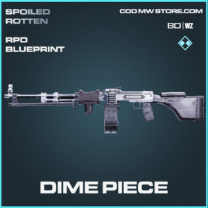 Dime Piece RPD skin rare blueprint in Call of Duty Black Ops Cold War and Warzone