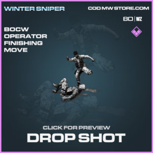Drop Shot Operator Finishing Move in Call of Duty Black Ops Cold War and Warzone