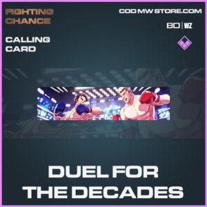 Duel For The Decades calling card in Call of Duty Black Ops Cold War and Warzone