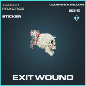 Exit Wound Sticker in Call of Duty Black Ops Cold War and Warzone