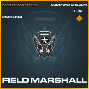 Field Marshall Emblem for call of duty black ops cold war and warzone