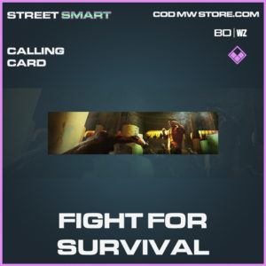 Fight for Survival calling card Call of Duty Black Ops Cold War and Warzone
