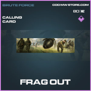 Frag Out calling card in Call of Duty Blacks Ops Cold War in Warzone