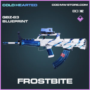 Frostbite QBZ-83 Skin epic blueprint in Call of Duty Black Ops Cold War and Warzone