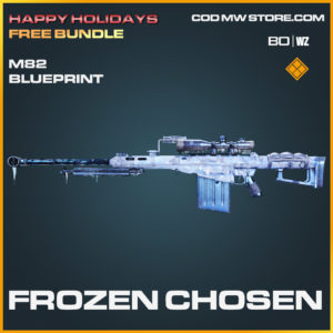 Frozen Chosen M82 skin legendary blueprint in Call of Duty Black Ops Cold War and Warzone