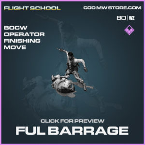 Full Barrage Black Ops Cold War and Warzone operator finishing move