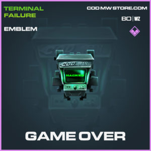 Game Over Emblem Call of Duty Black Ops Cold War and Warzone