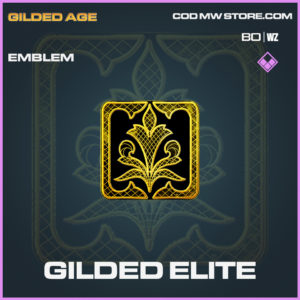Gilded Elite emblem epic call of duty Black Ops Cold War and Warzone item