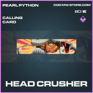 Head Crusher calling card in Call of Duty Black Ops Cold War and Warzone