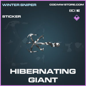 Hibernating Giant sticker in Call of Duty Black Ops Cold War and Warzone