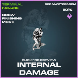 Internal Damage Finishing Move Call of Duty Black Ops Cold War and Warzone