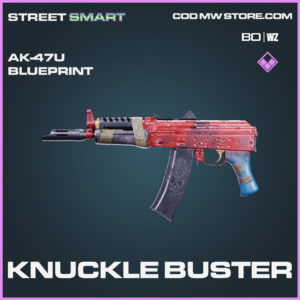 Knuckle Buster ak-47u skin epic blueprint Call of Duty Black Ops Cold War and Warzone