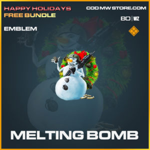Melting Bomb emblem in Call of Duty Black Ops Cold War and Warzone