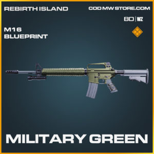 Military Green M16 Skin legendary blueprint Call of Duty Black Ops Cold War and Warzone