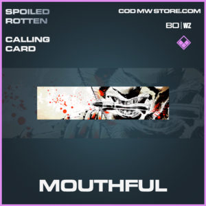 Mouthful calling card in Call of Duty Black Ops Cold War and Warzone