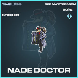 Nade Doctor sticker in call of duty black ops cold war and warzone