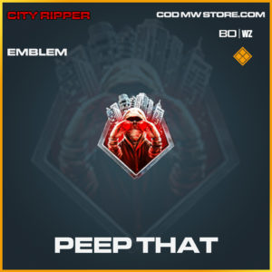 Peep That emblem for call of duty Black Ops Cold War & Warzone