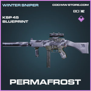 Permafrost KSP 45 blueprint skin in Call of Duty Black Ops Cold War and Warzone