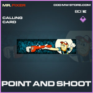Point and SHoot calling card in Call of Duty Black Ops Cold War and Warzone