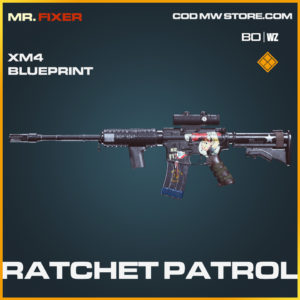 Ratchet Patrol XM4 blueprint skin in Call of Duty Black Ops Cold War and Warzone