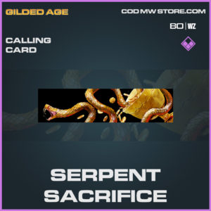 Serpent Sacrifice calling card epic call of duty Black Ops Cold War and Warzone