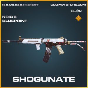 Shogunate Krig 6 blueprint skin in Call of Duty Black Ops Cold War and Warzone