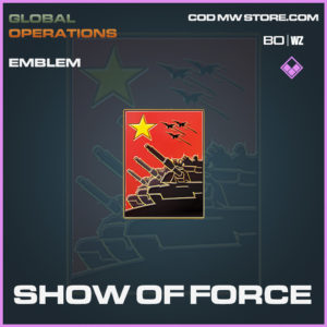 Show of Force emblem in Call of Duty Black Ops Cold War and Warzone