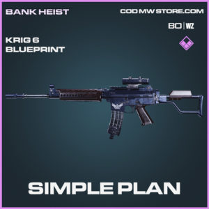 Simple Plan Krig 6 Skin Epic blueprint in Call of Duty Black Ops Cold War & Warzone