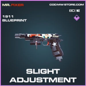 Slight Adjustment 1911 blueprint skin in Call of Duty Black Ops Cold War and Warzone