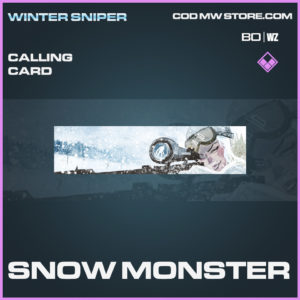 Snow Monster calling card in Call of Duty Black Ops Cold War and Warzone