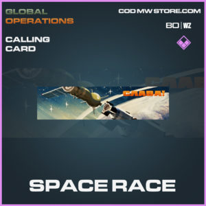 Space Race calling card in Call of Duty Black Ops Cold War and Warzone