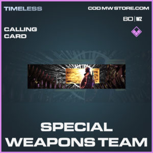 Special Weapons Team calling card in call of duty black ops cold war and warzone