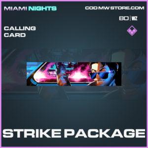 Strike Package calling card epic Black Ops Cold War & Warzone item