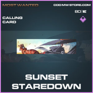 Sunset Staredown calling card epic call of duty black ops cold war and warzone item