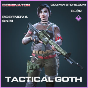 Tactical Goth Portnova Skin in Call of Duty Black Ops Cold War and Warzone