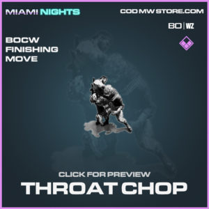 Throat Chop Black Ops Cold War & Warzone Finishing Move