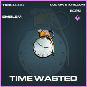 Time Wasted emblem in call of duty black ops cold war and warzone