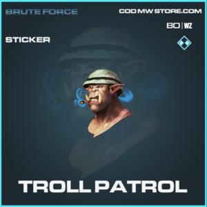 Troll Patrol Sticker in Call of Duty Blacks Ops Cold War in Warzone
