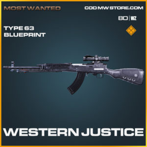 Western Justice Type 63 Skin legendary blueprint for call of duty black ops cold war and warzone