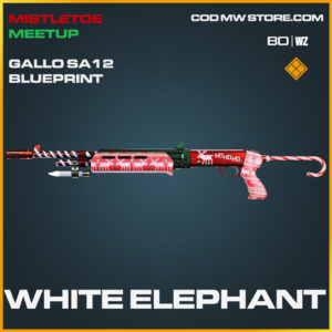 White Elephant Gallo SA 12 Skin legendary blueprint in Call of Duty Black Ops COld War and Warzone